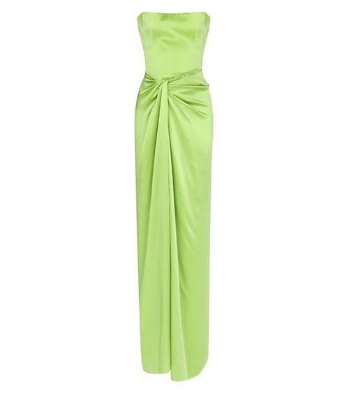 Artemis Silk Satin Elbise arkadan görünümü
