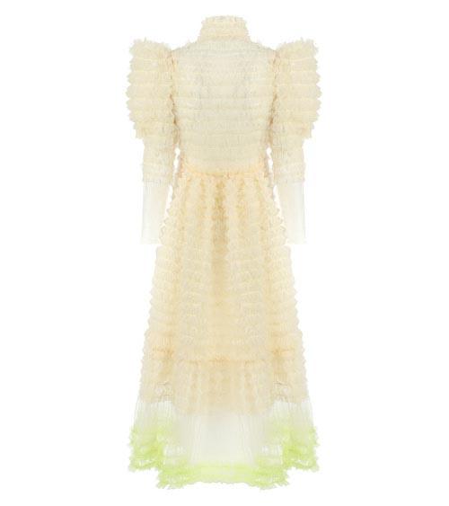 Balloon Sleeve Marshmallow Dress front view