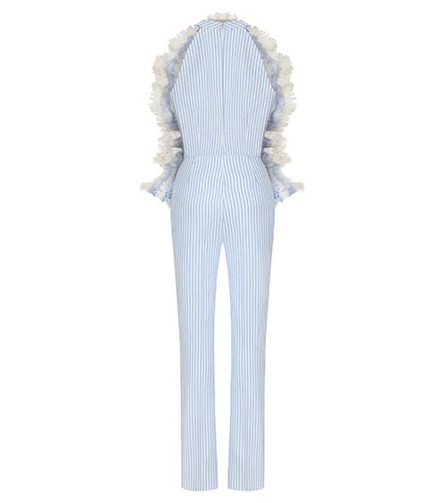 Frilled Poplin Jumpsuit front view