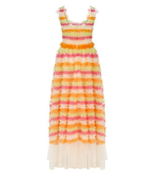 Frilled Rainbow Dress front view