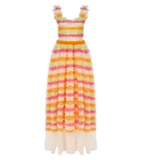 Frilled Rainbow Elbise önden görünümü