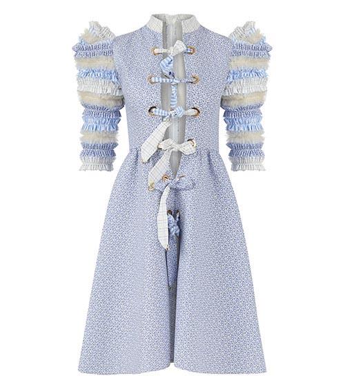 Lemniscate Ice Blue Midi Tunik Elbise önden görünüm