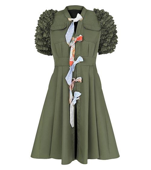 Lemniscate Khaki Midi Tunik Elbise önden görünümü