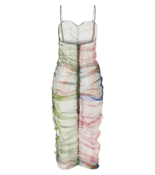 Rainbow Midi Dress front view