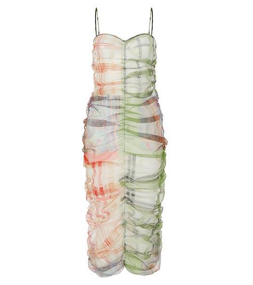 Rainbow Midi Elbise önden görünümü
