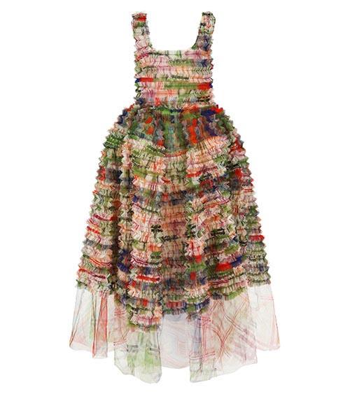 Ruffled Victorian Elbise önden görünümü