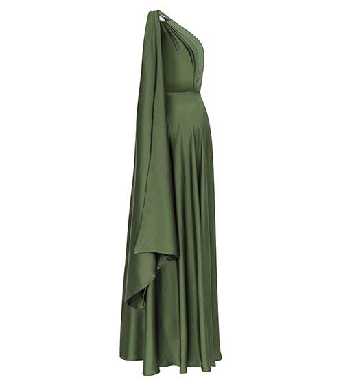 Silk Satin Helen Dress back view