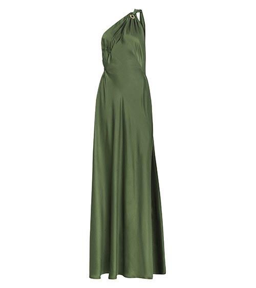 Silk Satin Helen Dress front view