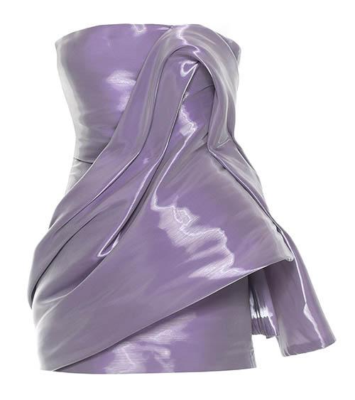 Draped Asymmetric Elbise önden görünümü