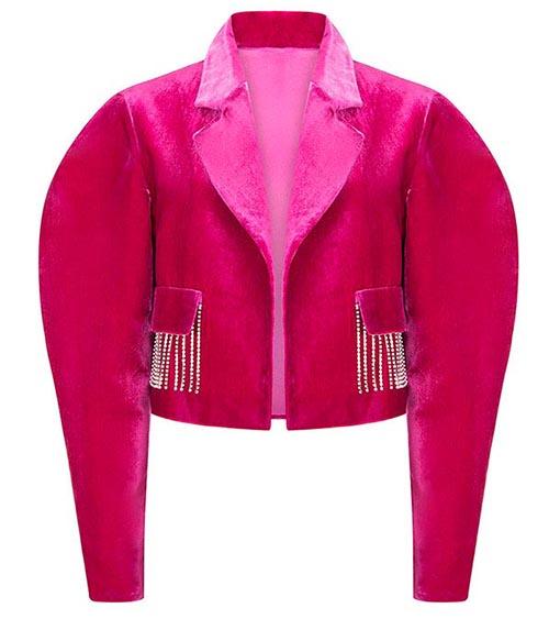 Eastern Glamour Velvet Ceket önden görünümü