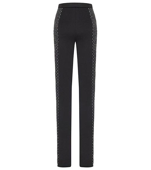 Embellished Scuba Quilted Pants front view