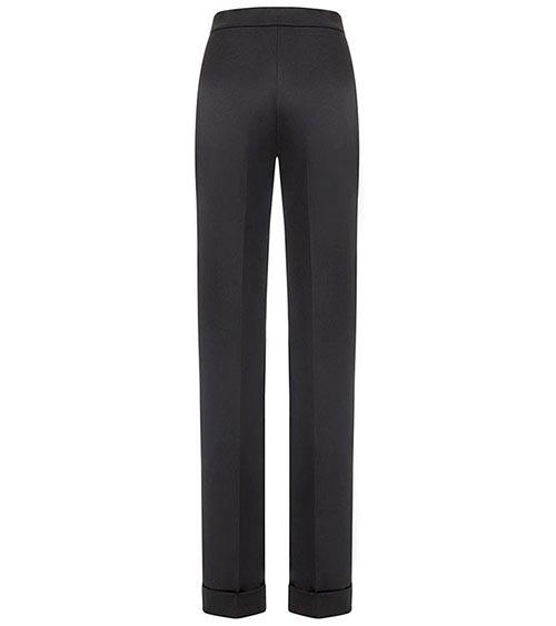 Embellished Scuba Quilted Pantolon önden görünümü