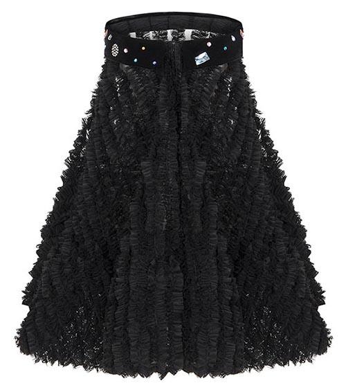 Little Black Ruffle Dress front view