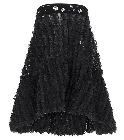 Little Black Ruffle Elbise önden görünümü