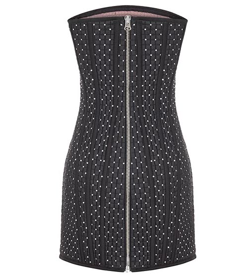 Quilted Corset Mini Dress front view