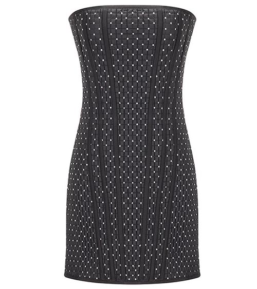 Quilted Corset Mini Elbise önden görünümü