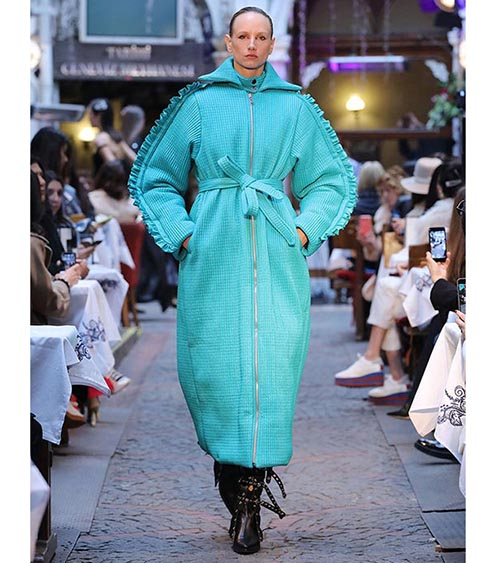 Quilted Puffer Coat model view