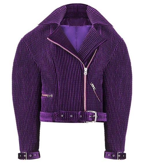 Velvet Biker Ceket önden görünümü