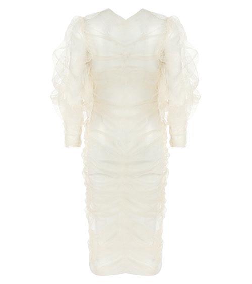 Whipped Cream Midi Tulle Elbise önden görünümü