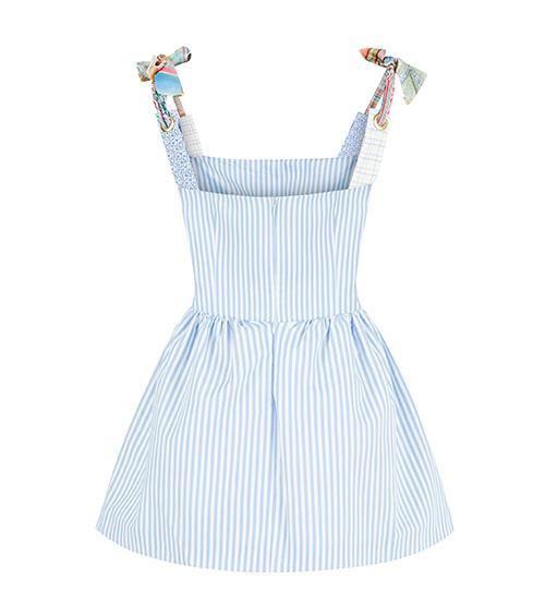 Assel Mini Poplin Elbise arkadan görünümü
