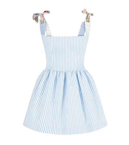 Assel Mini Poplin Elbise önden görünümü