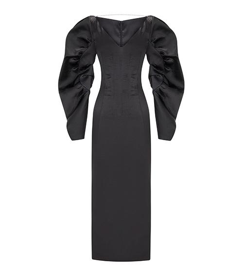 Audrey Midi Elbise önden görünümü
