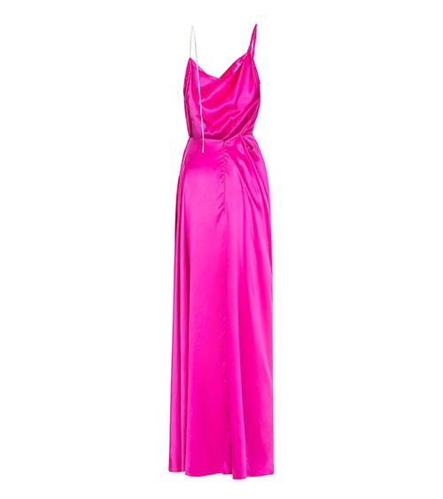 Helen Silk Satin Elbise arkadan görünümü