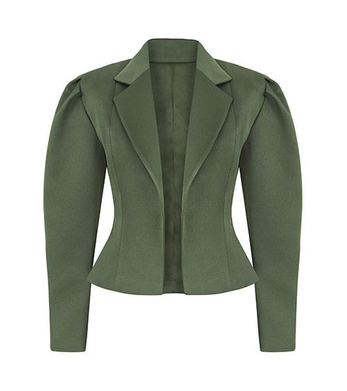 Khaki Corset Ceket önden görünümü