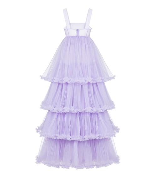 Layered Tulle Elbise arkadan görünümü