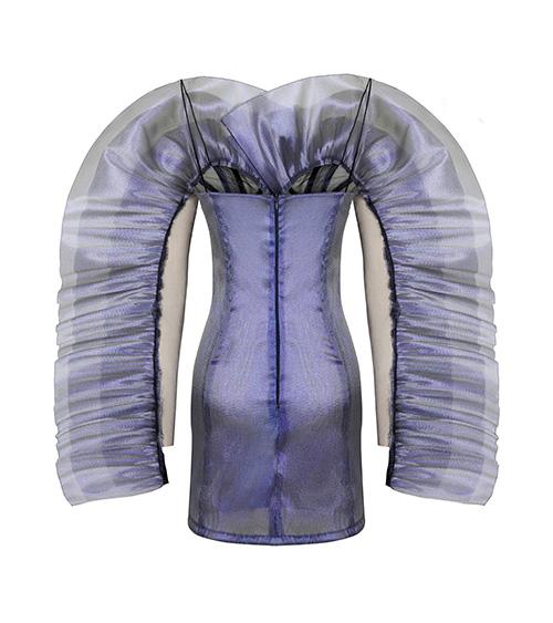 M Ruffled Elbise arkadan görünümü