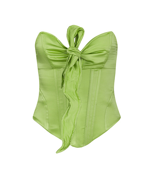 Ribbons Candy Green Korse önden görünümü