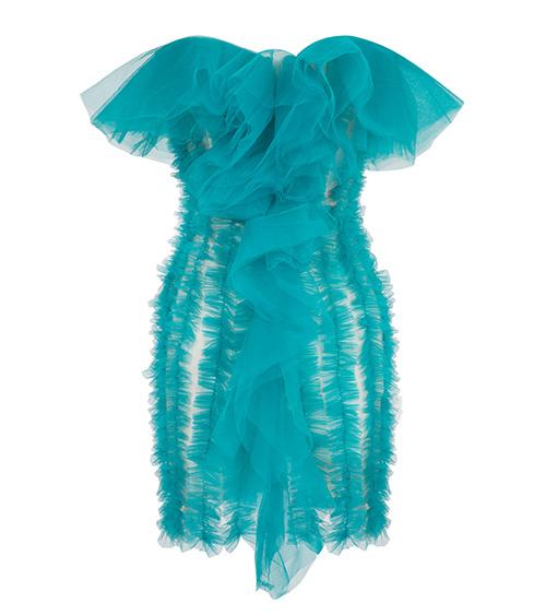 Ruffled Tulle Elbise önden görünümü