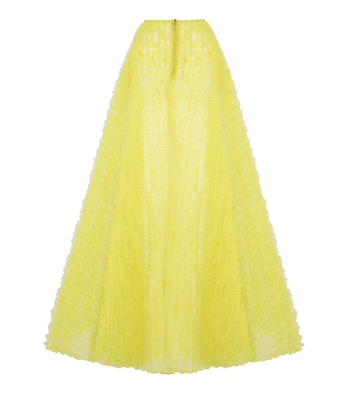 Ruffled Tulle Skirt front view