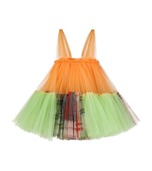 Sea Shell Voluminous Mini Tulle Dress back view