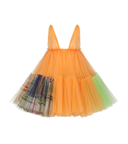 Sea Shell Voluminous Mini Tulle Dress front view