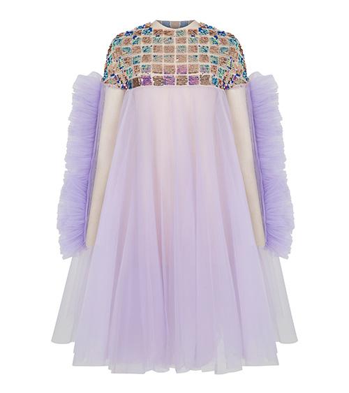 Sequined Tulle Elbise önden görünümü