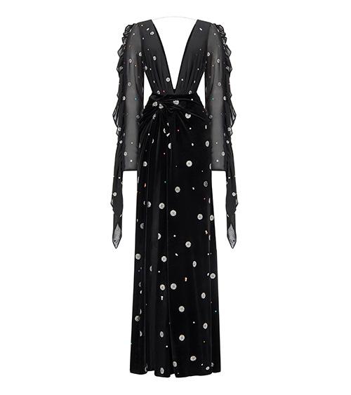 Sheenful V Neck Long Elbise önden görünümü