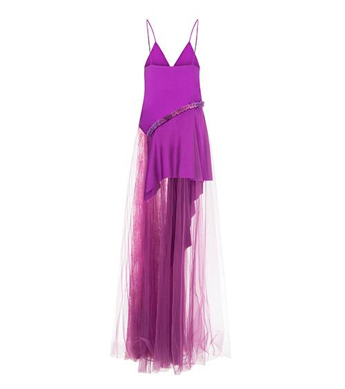 Silt Satin Long Dress back view