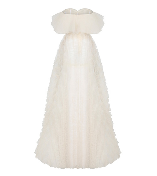 Tulle Ruffled Dress back view
