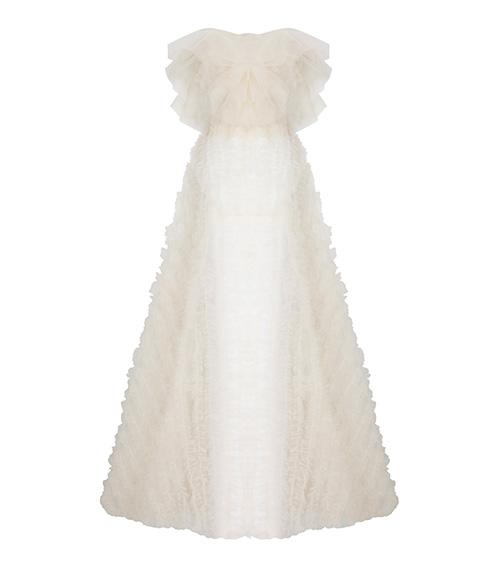 Tulle Ruffled Elbise önden görünümü
