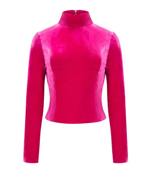 Turtleneck Zippered Bluz önden görünümü