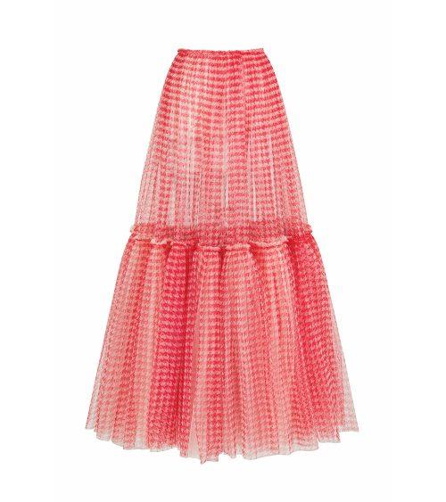 fluffy tulle skirt back view