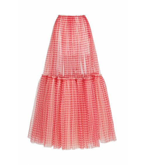 fluffy tulle skirt front view