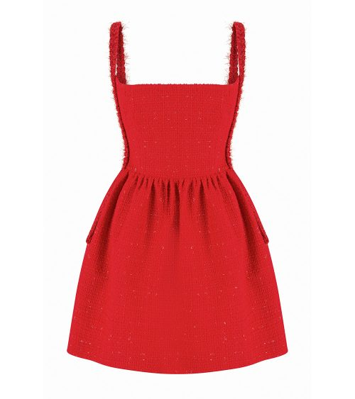 hyber fitted mini dress front view