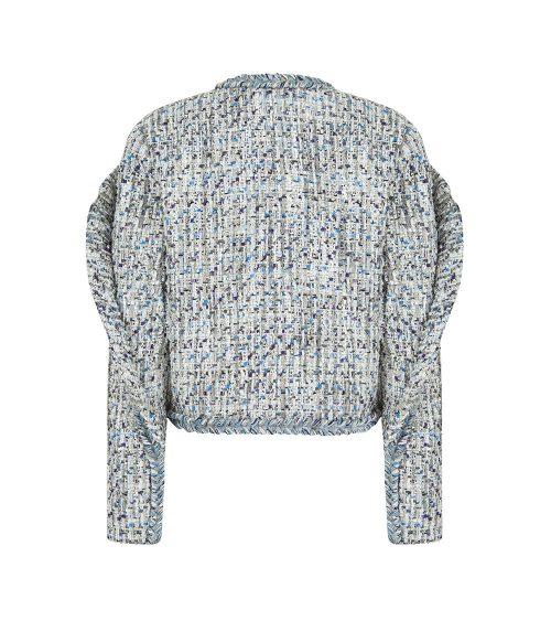 tweed blazer front view