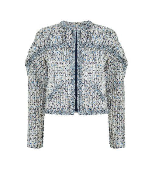 Tweed Blazer Ceket önden görünümü