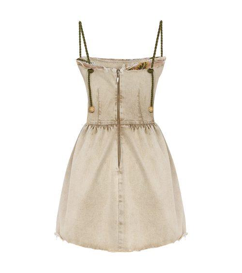 Assel Safari Denim Elbise önden görünümü