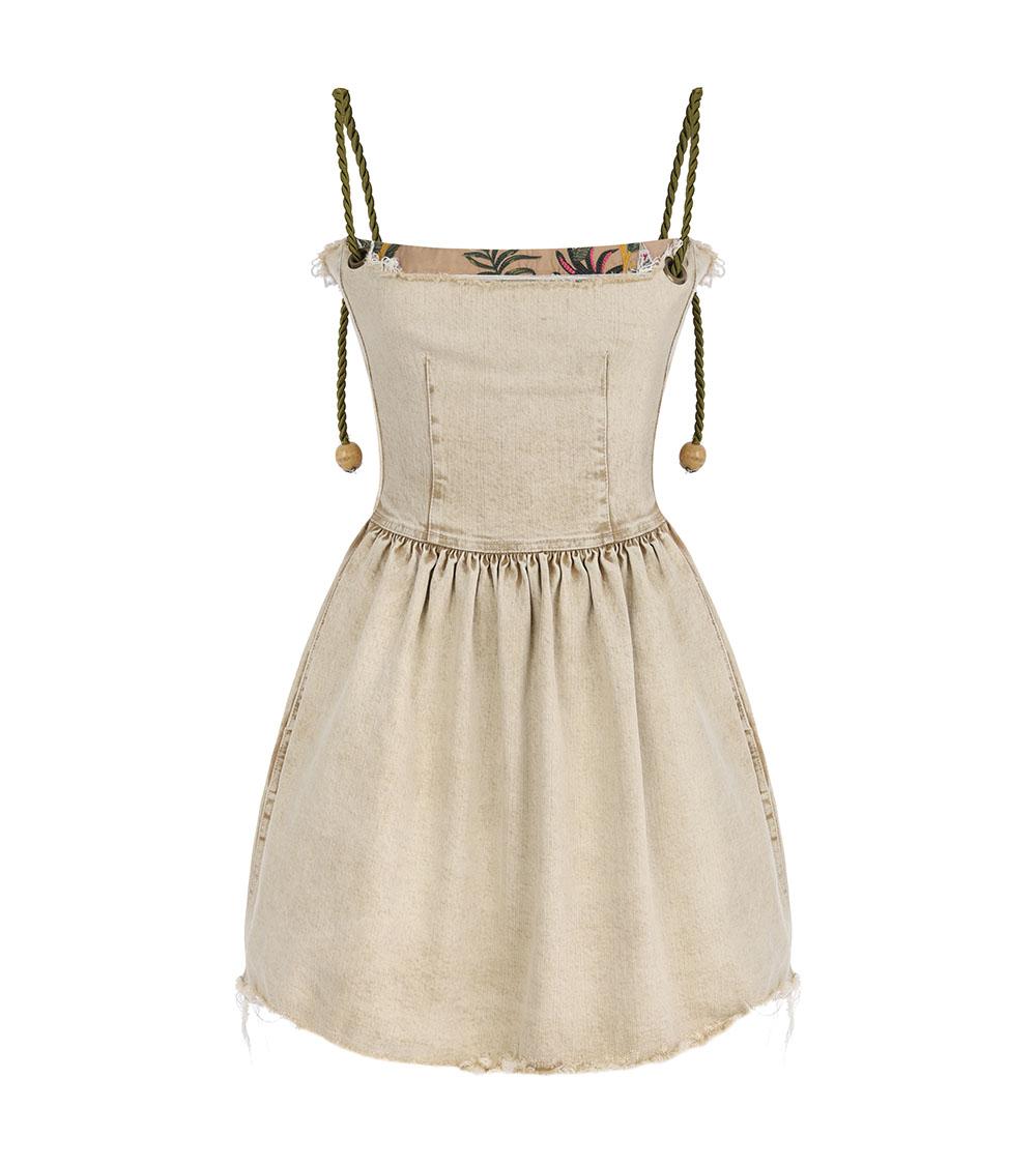 Assel Safari Denim Dress front view