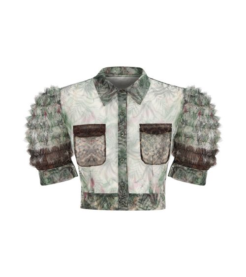 Bushveld Tulle Crop Bluz önden görünümü
