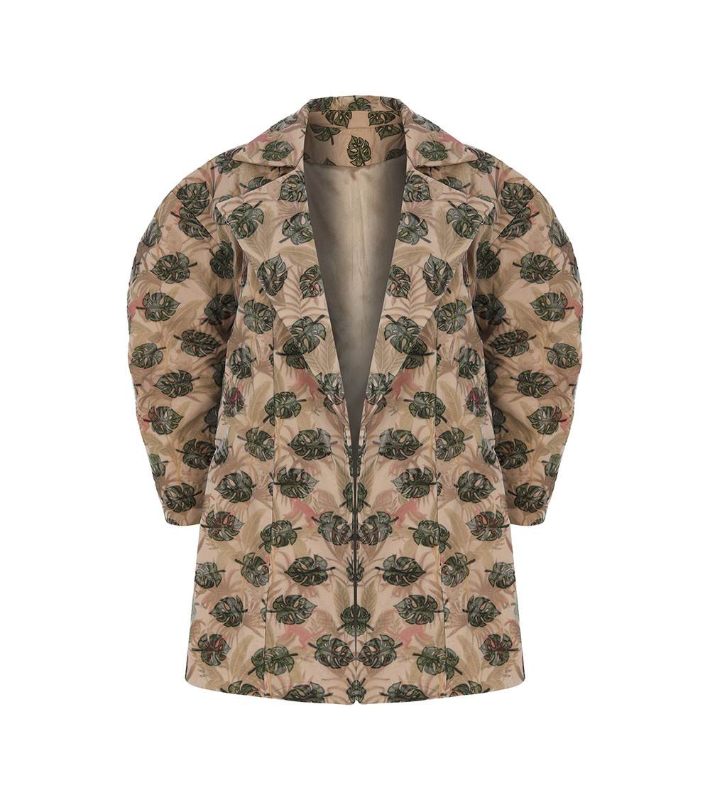Jungle Balloon Sleeve Jacket front view